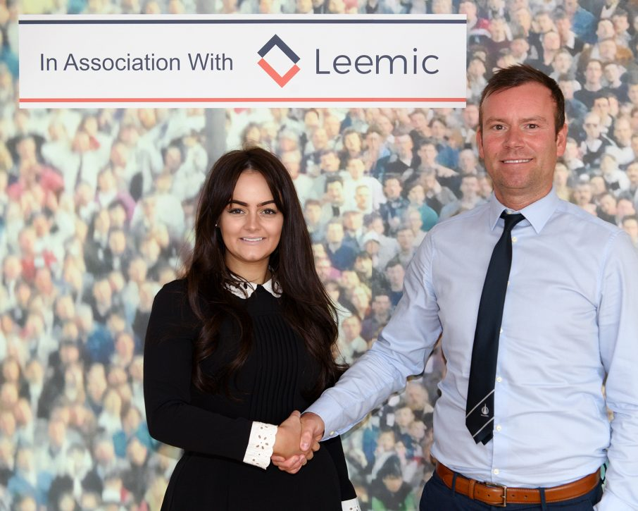 Leemic are Behind The Goals at Falkirk FC!